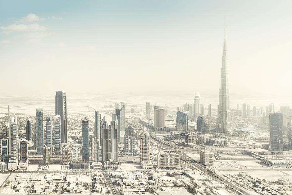 Dubai Aerial Burj Khalifa